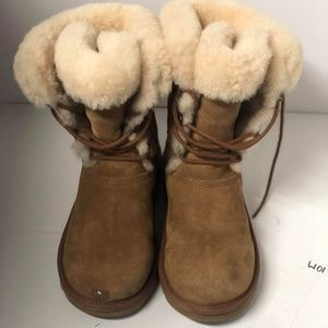 UGG AUSTRALIA SOPHY 3285 LEATHER BOOTS Size 5 #42